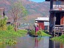 Inle jezioro Myanmar Zdjęcia Royalty Free