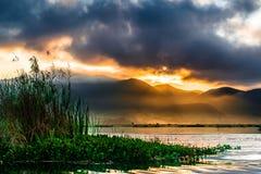 inle jezioro Myanmar zdjęcie royalty free