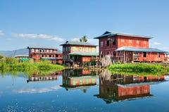 inle jezioro Myanmar Fotografia Royalty Free