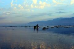 Inle jezioro Myanmar Obrazy Royalty Free