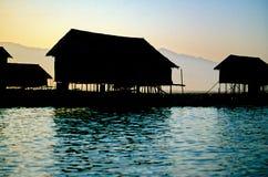Inle Lake- Burma (Myanmar). Stilted house on Lake Inle- Burma (Myanmar Royalty Free Stock Image