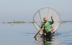 Inle Lake Fisherman 2 Royalty Free Stock Image