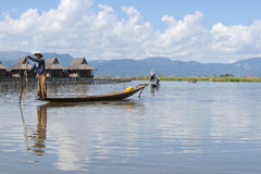 Inle Lake fisherman. Royalty Free Stock Images
