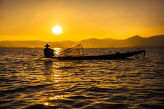 Inle Lake fisherman Royalty Free Stock Photos