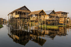 Inle Lake Floating Village, Shan State, Myanmar Royalty Free Stock Images