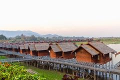 Inle lake hotels Royalty Free Stock Photography