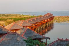 Inle lake hotels Royalty Free Stock Image