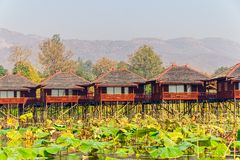 Inle lake hotels Stock Image