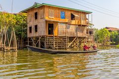 Inle lake Royalty Free Stock Images