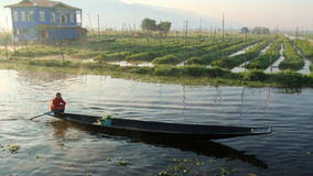 Inle Lake. Daily life of people living in Inle Lake Royalty Free Stock Photography