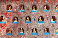 Inle lake, Myanmar. Buddha inside a temple in Inle lake, Myanmar royalty free stock photo