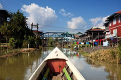 Inle Lake. In Myanmar stock image