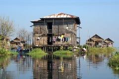 Inle Lake, Myanmar, Asia. Typical village on Inle Lake, Myanmar, Asia stock images