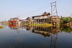 Inle Lake in Myanmar. The floating village in Inle Lake, Myanmar stock image