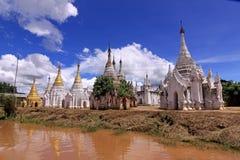 Inle Lake Myanmar - Indein Pagodas Stock Photography