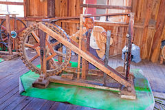 INLE LAKE, MYANMAR - november 17, 2015: Man is weaving in an old Royalty Free Stock Photography