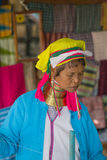 INLE LAKE, MYANMAR - NOVEMBER 30, 2014: an unidentified EDERLY W Stock Photography