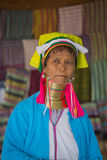 INLE LAKE, MYANMAR - NOVEMBER 30, 2014: an unidentified EDERLY W Stock Images