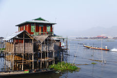 Inle Lake in Myanmar. The typical building in Inle Lake, Myanmar royalty free stock photo