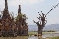Inle Lake pagodas, Myanmar Stock Photography