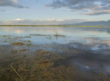 Inle lake. Panoramic view of Inle lake, Burma Stock Photos