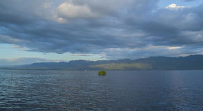 Inle lake. Panoramic view of Inle lake, Burma Stock Photo