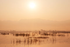 Inle Lake Sunrise Royalty Free Stock Photography