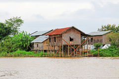Inle Lake Tall House Village, Myanmar. Inle Lake is a freshwater lake located in the Nyaungshwe Township of Taunggyi District of Shan State It is the second Royalty Free Stock Photo