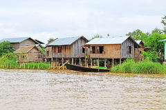 Inle Lake Tall House Village, Myanmar. Inle Lake is a freshwater lake located in the Nyaungshwe Township of Taunggyi District of Shan State It is the second Stock Photography