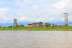 Inle Lake Tall House Village, Myanmar. Inle Lake is a freshwater lake located in the Nyaungshwe Township of Taunggyi District of Shan State It is the second Stock Image