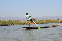 Inle Lake view in Myanmar Stock Photo
