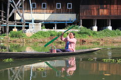 Inle Lake view in Myanmar Royalty Free Stock Photography