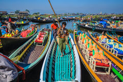 Inle market Stock Photography