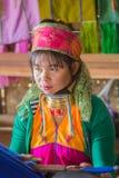 INLE-MEER, MYANMAR - NOVEMBER 30, 2014: een niet geïdentificeerd meisje van Stock Foto