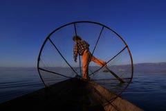 INLE MYANMAR - JANUARI 1 Arkivfoton