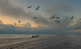 Inle See auf Myanmar Stockbild