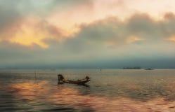 Inle sjö i Myanmar royaltyfri bild