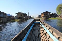 Inle sjö i Myanmar Arkivfoton