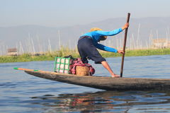 Inle sjö i Myanmar Royaltyfri Foto