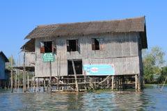 Inle sjö i Myanmar Arkivfoto