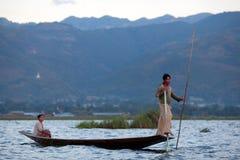 Inle sjö i Shan State, Myanmar Arkivfoto
