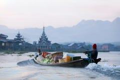 Inle sjö i Shan State, Myanmar Arkivbild