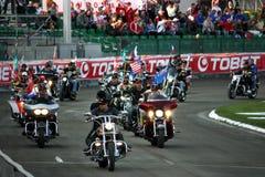 Inleiding van de Grand Prix van de Speedwaybaan in Praag Royalty-vrije Stock Fotografie