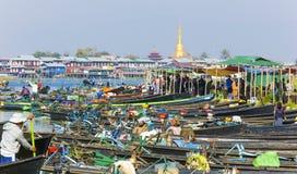 inlelake myanmar Arkivbild