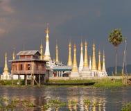 inlelake myanmar Fotografering för Bildbyråer