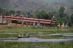 inlelakemyanmar tempel Royaltyfria Bilder