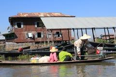Inlemeer in Myanmar Stock Afbeeldingen