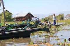 Inlemeer in Myanmar Stock Fotografie