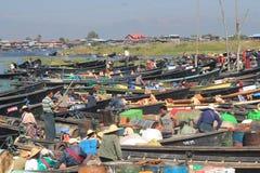 Inlemeer in Myanmar Royalty-vrije Stock Afbeelding