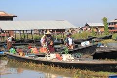 Inlemeer in Myanmar Stock Afbeelding
